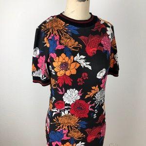 Coy Fish Floral Print Dress